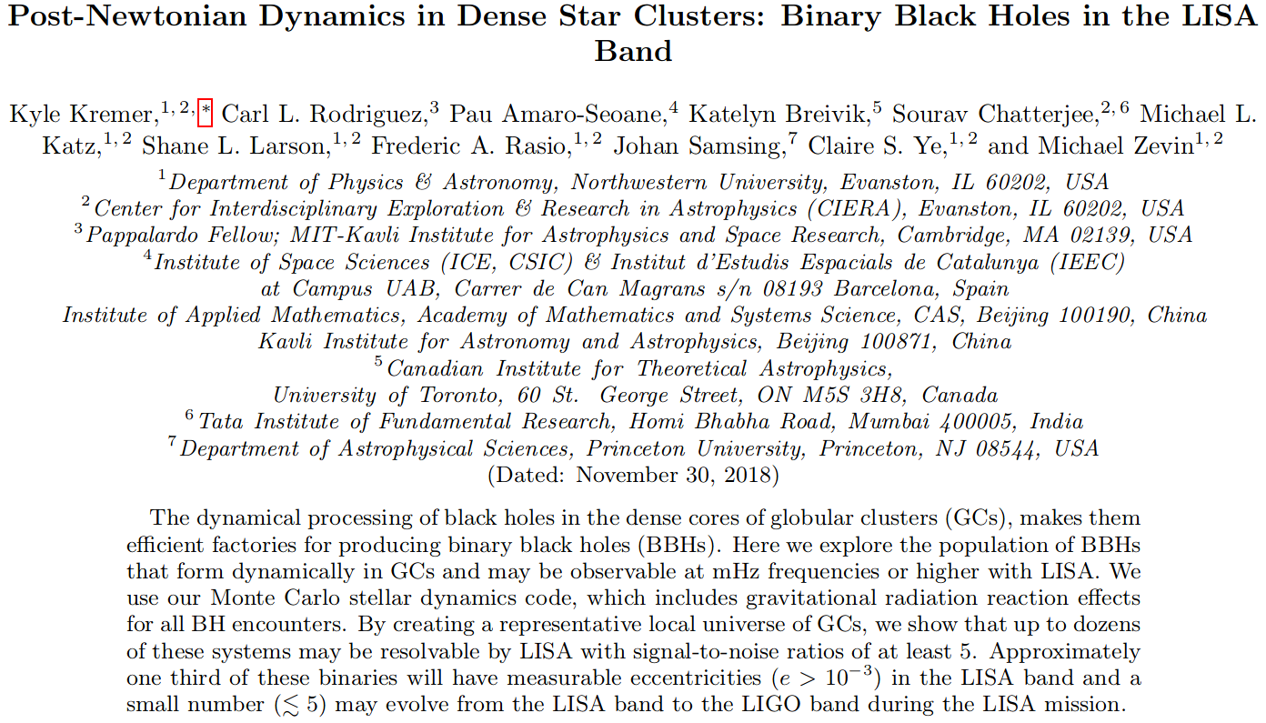 d5ab590c85b9d0 Post-Newtonian Dynamics in Dense Star Clusters  Binary Black Holes in the  LISA Band